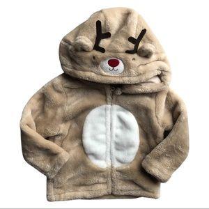 ⭐️ 6 Month Fleece Reindeer Sweatshirt
